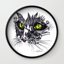 Intense Cat Wall Clock