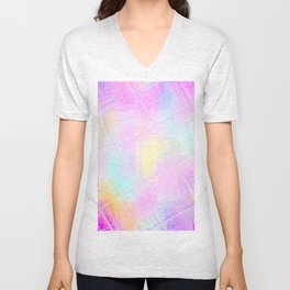 Re-Created Twisted SQ L by Robert S. Lee Unisex V-Neck