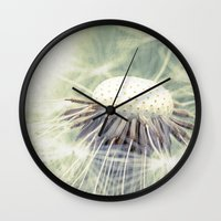 weed Wall Clocks featuring a weed by Bonnie Jakobsen-Martin