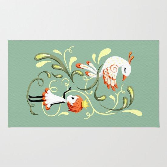 Princess and a Bird Rug