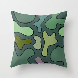 Wiggle Camo Throw Pillow