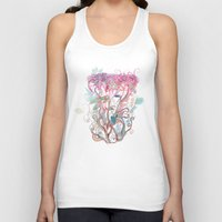 clover Tank Tops featuring Floral clover by /CAM