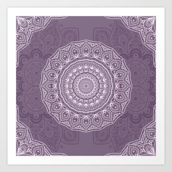 White Lace on Lavender Art Print