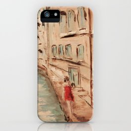 Venice Girl in Red iPhone Case