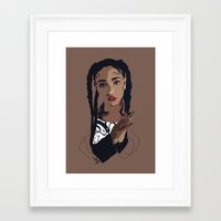 fka twigs Framed Art Prints featuring FKA Twigs by Anna McKay