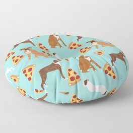 boxer pizza dog lover pet gifts cute boxers pure breeds Floor Pillow