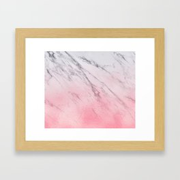 Cotton candy marble Framed Art Print