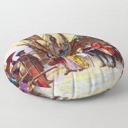 Ben Franklin Returns To Philadelphia Floor Pillow