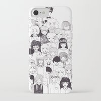 it crowd iPhone & iPod Cases featuring crowd  by Milly Scarlett