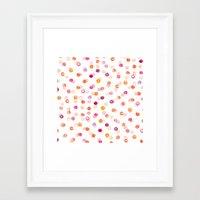 polka Framed Art Prints featuring Polka by Eleanor Amelia