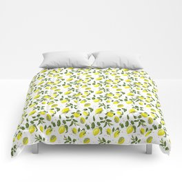 Lemon Branches with Fruits Comforters