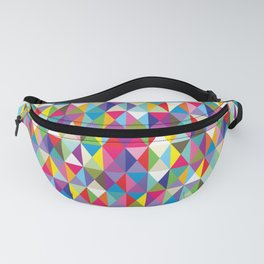 Mid Century Modern Colorful Triangle Print Fanny Pack
