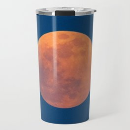 Red Moon, Moon, Blue Sky And Orange Travel Mug