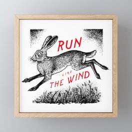 Run Like The Wind Framed Mini Art Print