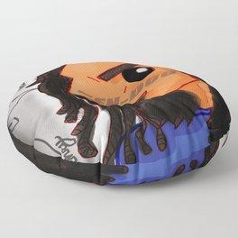 Hen-Dog #001_ Blue Redesign Floor Pillow