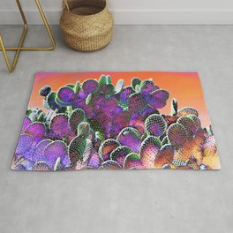 Southwest Desert Cactus-Barbara Chichester Rug