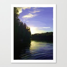 Violet Shining Canvas Print