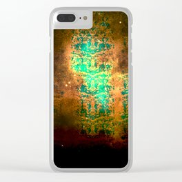 Old World Map Snake Skin Clear iPhone Case