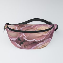 Princess-Pink Pastel Roses With Glitter Trim Fanny Pack