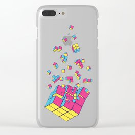 Rubixplosion II Clear iPhone Case
