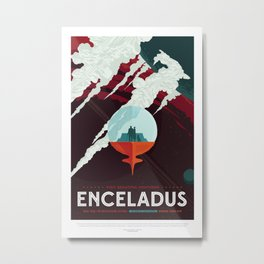 NASA / Enceladus / Space Poster / Vision of the future Metal Print
