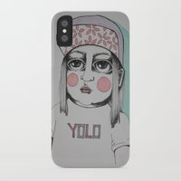 yolo iPhone & iPod Cases featuring Yolo  by Agnes Emilia