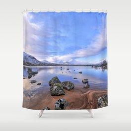 Rocking it on Rannoch Moor; Scottish highlands Shower Curtain