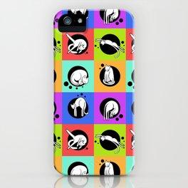 Rainbow Cat Yoga iPhone Case