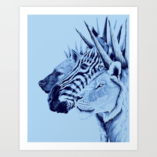 Mohawks of the Wild Kingdom Art Print