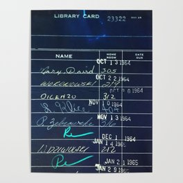 Library Card 23322 Negative Poster