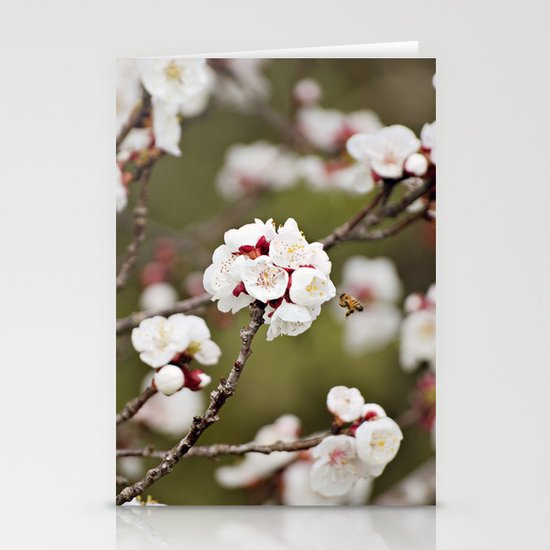 Drawn to the Scent of Spring Stationery Cards