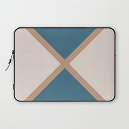 Brown Blue Cream Minimal Diagonal Line Pattern 2021 Color of the Year Canyon Dusk & Accent Shades Laptop Sleeve