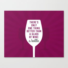 Bottle Of Wine Canvas Print