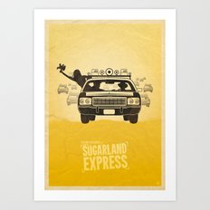 Steven Spielberg's THE SUGARLAND EXPRESS Art Print