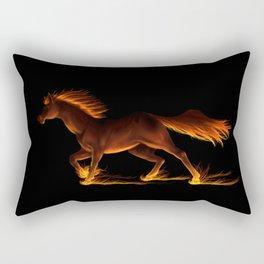 Fire Trail Horse Rectangular Pillow