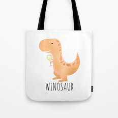 Winosaur | White Wine Tote Bag