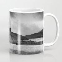 scotland Mugs featuring SCOTLAND, CASTLE by Carlos Sanchez