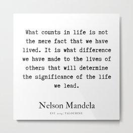 33  | Nelson Mandela  Quotes | 190818 Metal Print