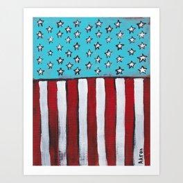 Stripes and Stars Art Print