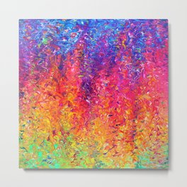 Fluoro Rain Metal Print