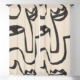Minimal Abstract Art 37 Blackout Curtain