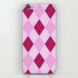 Pink Argyle Pattern iPhone Skin