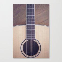 Light Acoustic Guitar Canvas Print