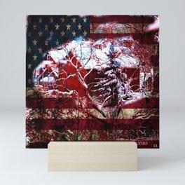 Patriotic American Barn Mini Art Print