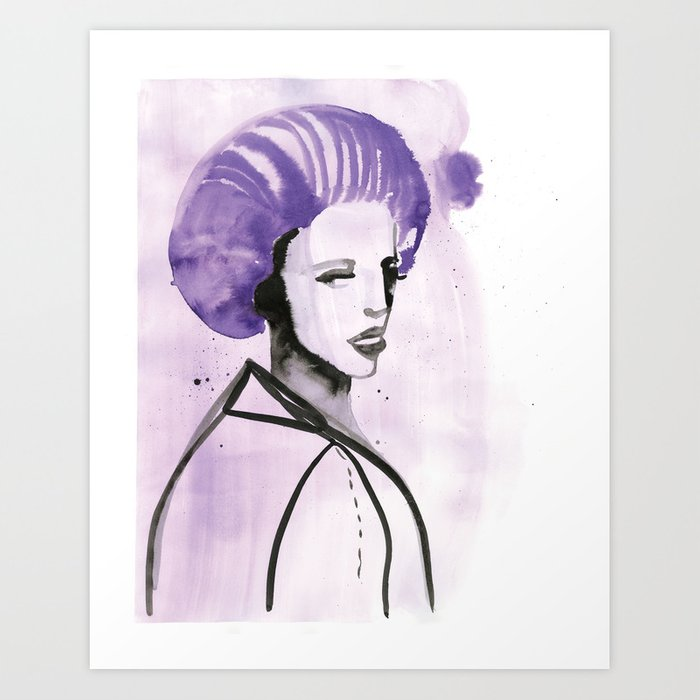 Purple Hair in Purple Haze Art Print