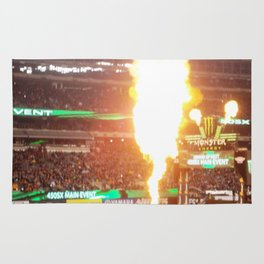 MX Supercross Explosive Fire Rug