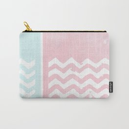 Zig Zag pink Carry-All Pouch