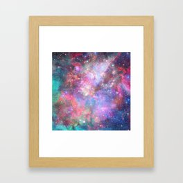 Glitter Galaxy Framed Art Print