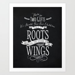 Roots and Wings Art Print