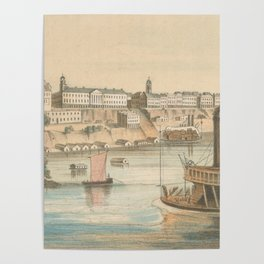 Vintage Pictorial View of Memphis TN (1854) Poster